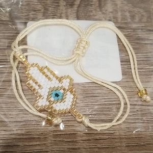 Jewelry - Evile eye and palm miyuki bead bracelet